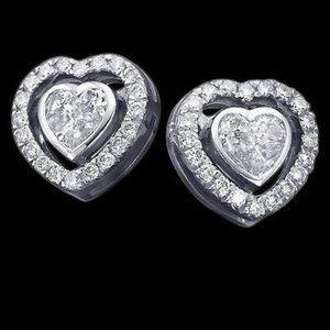 Jewelry - 3.50 ct. heart cut diamond stud earring gold